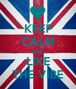 KEEP CALM AND LIKE THE VIBE - Personalised Poster large