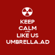KEEP CALM AND LIKE US UMBRELLA.AD - Personalised Poster large