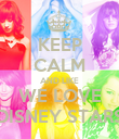 KEEP CALM AND LIKE WE LOVE DISNEY STARS - Personalised Poster large