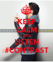 KEEP CALM AND LISTEN #CONTRAST - Personalised Poster large