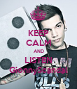 KEEP CALM AND LISTEN GionnyScandal - Personalised Poster large