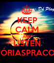 KEEP CALM AND LISTEN #HISTÓRIASPRACONTAR - Personalised Poster large