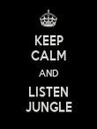 KEEP CALM AND LISTEN JUNGLE - Personalised Large Wall Decal