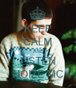 KEEP CALM AND LISTEN NOIZE MC - Personalised Poster large