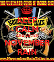 KEEP CALM AND LISTEN NOVEMBER RAIN - Personalised Poster large