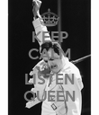 KEEP CALM AND LISTEN QUEEN - Personalised Poster large