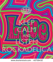 KEEP CALM AND LISTEN ROCKADELICA - Personalised Poster large