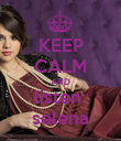 KEEP CALM AND listen  selena - Personalised Poster large