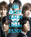 KEEP CALM AND Listen SS501  - Personalised Poster large