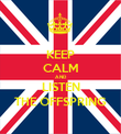 KEEP CALM AND LISTEN THE OFFSPRING - Personalised Poster large