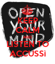 KEEP CALM AND LISTEN TO ACCUSSì - Personalised Poster large