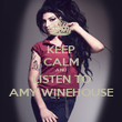 KEEP CALM AND LISTEN TO AMY WINEHOUSE - Personalised Large Wall Decal