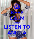 KEEP CALM AND LISTEN TO ANITTA - Personalised Poster large