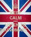 KEEP CALM AND LISTEN TO BRUNOMARS  ♥  - Personalised Poster large