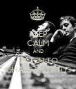 KEEP CALM AND LISTEN TO CHASE & STATUS - Personalised Poster large
