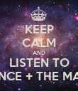 KEEP CALM AND LISTEN TO FLORENCE + THE MACHINE - Personalised Poster large