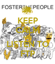 KEEP CALM AND LISTEN TO FTP - Personalised Poster large