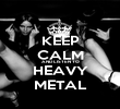 KEEP CALM AND LISTEN TO HEAVY METAL - Personalised Poster large