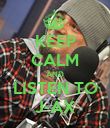 KEEP CALM AND LISTEN TO J-AX - Personalised Poster large