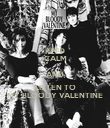 KEEP CALM AND LISTEN TO MY BLOODY VALENTINE - Personalised Poster large