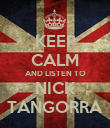 KEEP CALM AND LISTEN TO NICK TANGORRA - Personalised Poster large