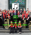 KEEP CALM AND LISTEN TO PONTYPOOL BRASS BAND  - Personalised Poster large