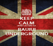 KEEP CALM AND LISTEN TO RAUIUI UNDERGROUND - Personalised Poster small
