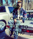 KEEP CALM AND LISTEN TO RETRO - Personalised Poster large
