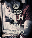 KEEP CALM AND LISTEN TO SALMO  - Personalised Poster large
