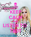 KEEP CALM AND LISTEN TO  TBDT - Personalised Poster large