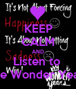 KEEP CALM AND Listen to  The Wonder Years - Personalised Poster large