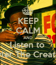 KEEP CALM AND Listen to  Tyler The Creator - Personalised Poster large