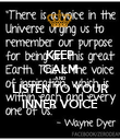 KEEP CALM AND LISTEN TO YOUR INNER VOICE - Personalised Poster large