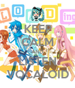 KEEP CALM AND LISTEN VOCALOID - Personalised Poster large