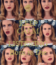 KEEP CALM AND LISTENING Born to Die - Personalised Poster large