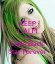 KEEP CALM AND Little Black Star Forever - Personalised Poster small