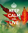 KEEP CALM AND LIVE  - Personalised Poster large