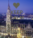 KEEP CALM AND LIVE IN MUNICH - Personalised Poster large