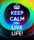 KEEP CALM AND LIVE LIFE! - Personalised Poster large