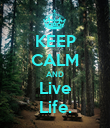 KEEP CALM AND Live Life. - Personalised Poster large