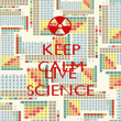 KEEP CALM AND LIVE SCIENCE - Personalised Poster large