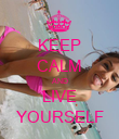 KEEP CALM AND LIVE YOURSELF - Personalised Poster large