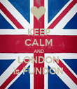 KEEP CALM AND LONDON is FUNDON - Personalised Poster large