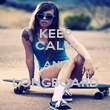 KEEP CALM AND LONGBOARD  - Personalised Poster large