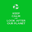 KEEP CALM AND LOOK AFTER OUR PLANET - Personalised Poster large
