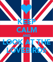 KEEP CALM AND LOOK AT THE LOVEBIRDS - Personalised Poster small