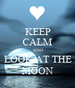 KEEP CALM AND LOOK AT THE MOON - Personalised Poster large
