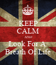 KEEP CALM AND Look For A  Breath Of Life - Personalised Poster large