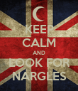 KEEP CALM AND LOOK FOR NARGLES - Personalised Poster large