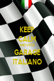 KEEP CALM AND LOOK GARAGE ITALIANO - Personalised Poster large